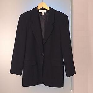 Jones New York Black Wool Classic Blazer